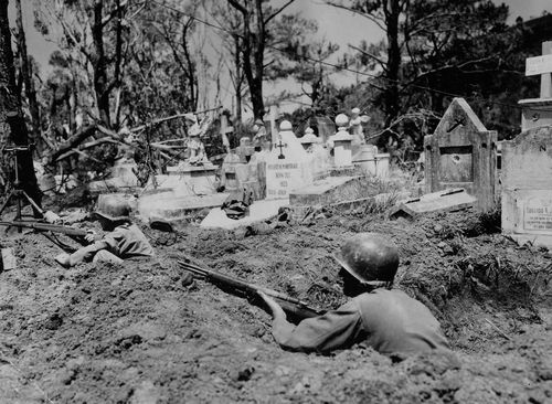 43rd inf div 129th inf regt in cemetary baguio luzon philippines 042445 (1 of 1)