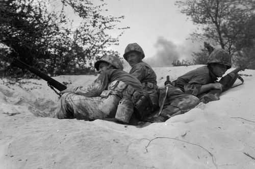 USMC Series WWII  Saipan 1st Day Beach Assault 061544 II (1 of 1)